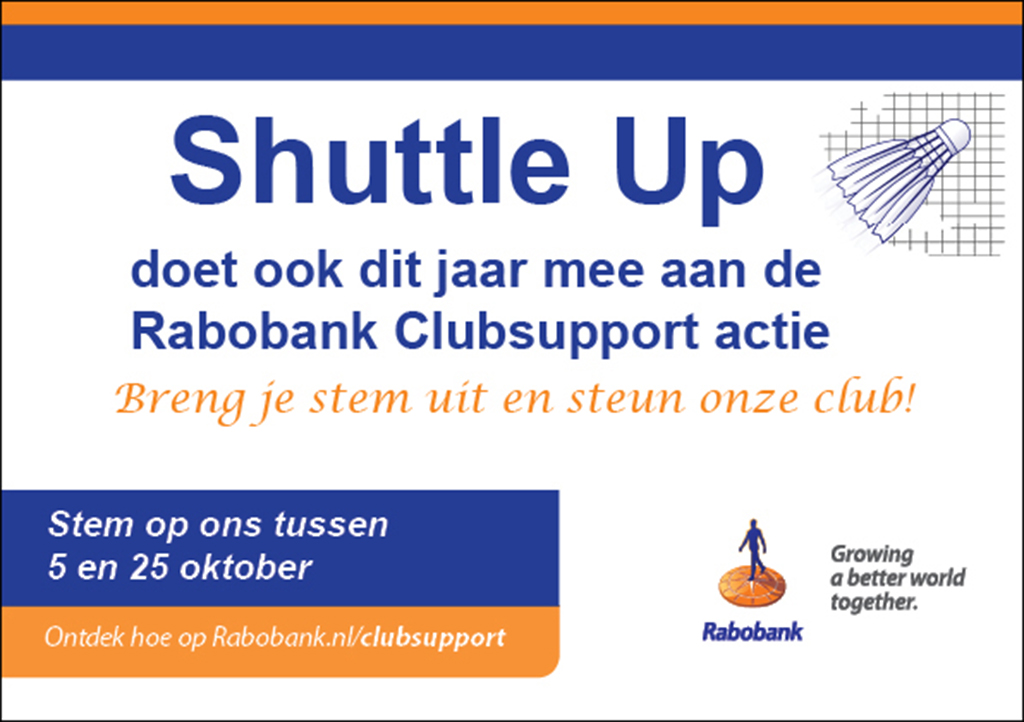 Rabobank Clubsupport……… jouw stem is geld waard!!